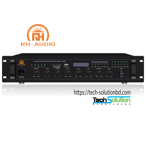6-Zone USB/SD/FM/BT 100V PA Amps