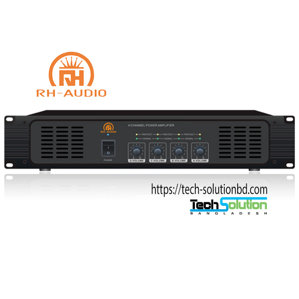 Public Address System 4 Channel Amplifier