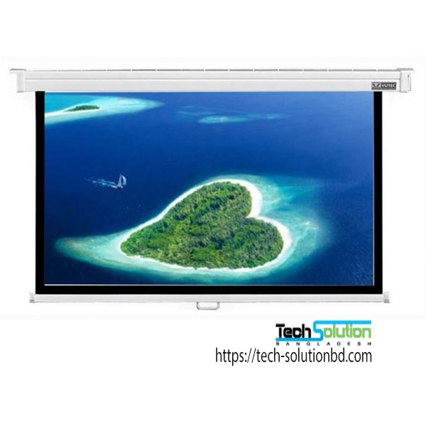 Ceiling Mount 84 x 84 Inch Manual Projector Screen