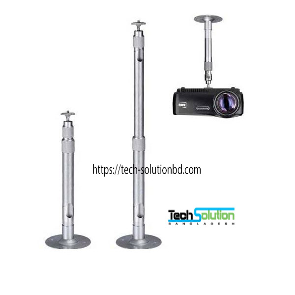 Projector Ceiling Mount 360 Degrees Silver Aluminum