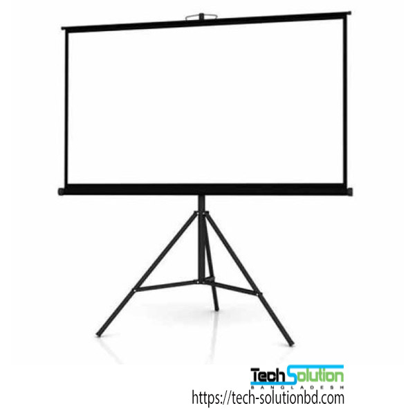 Super View 96X96 Inch Tripod Projector Screen